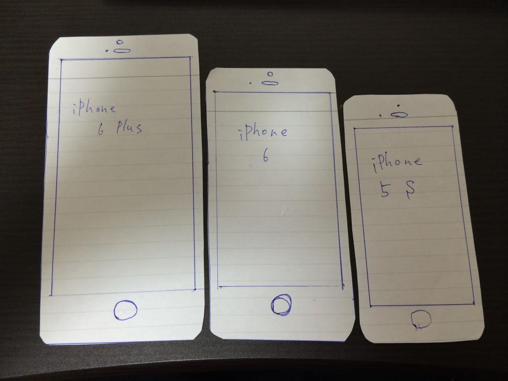 実物大iPhone