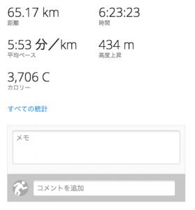 65キロ走結果